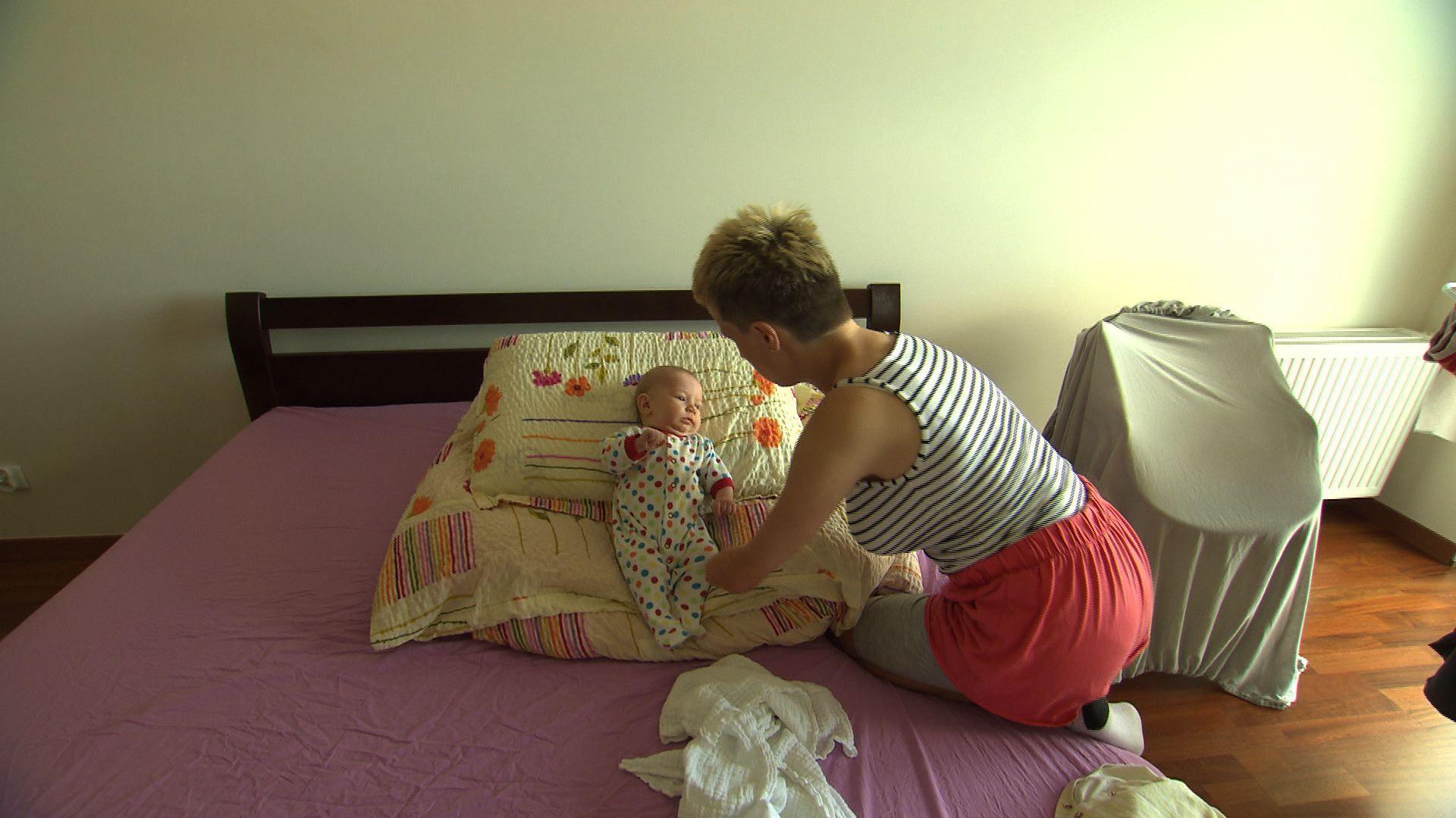 Kasia Rogowiec z córeczką